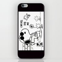 "snoopy iPhone & iPod Skins featuring Snoopy ""Chicks Dig Me"" by Blue Orchid Photography"