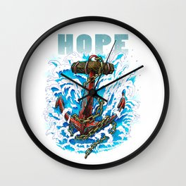 Hope is my Anchor Wall Clock