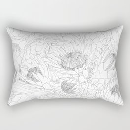 King and Queen Proteas Rectangular Pillow