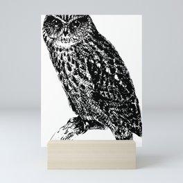 Birds vintage engraving illustration Mini Art Print