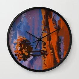 Vertical Landscape Wall Clock