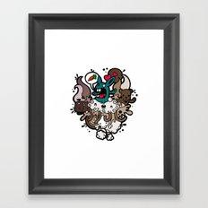 Rabbit Nightmare! Framed Art Print