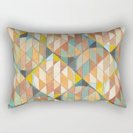 Triangles and Circles Pattern no.23 Rectangular Pillow