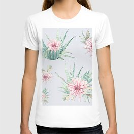Cactus Pattern Light Blue #society6 #buyart T-shirt
