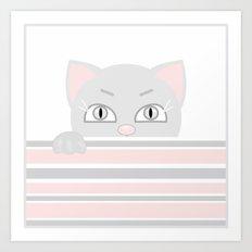 Small kitten. Art Print