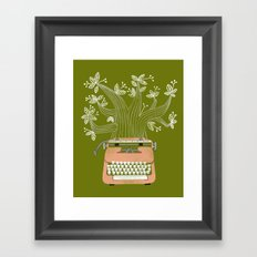 The Typing Tree Pink Framed Art Print