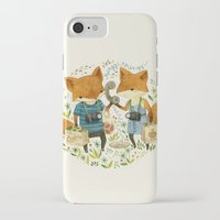 card iPhone & iPod Cases featuring Fox Friends by Teagan White