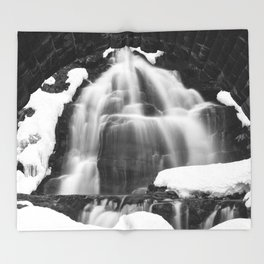 Winter Arch Waterfall Throw Blanket