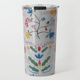 Kurbits – Blue Bell – Scandinavian Folk Art Travel Mug