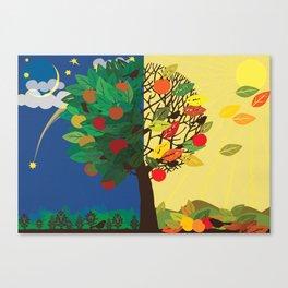 """Seasons"" Summer-Autumn Canvas Print"