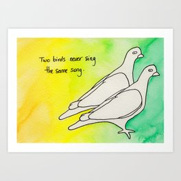 Two Birds no1 Art Print