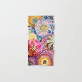 Flowered Table Hand & Bath Towel