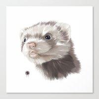 ferret Canvas Prints featuring Ferret by Adam Dunt