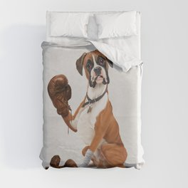 The Boxer (Wordless) Duvet Cover