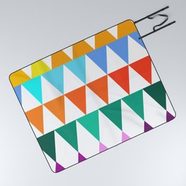 Triangles of Color Picnic Blanket