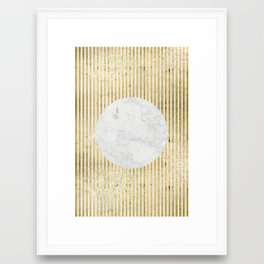 inverse gOld sun Framed Art Print