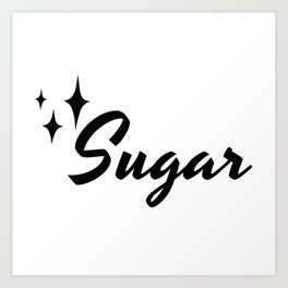 50s Vintage Style Canister Retro Label Sugar Art Print