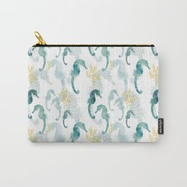Pointillism Seahorse Carry-All Pouch