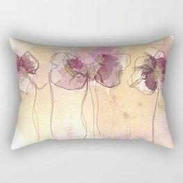 Fragrance - Abstract Flowers Watercolour Rectangular Pillow