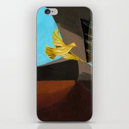 Old man painting pigeons children's book illustration iPhone Skin