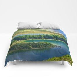 Colorful lake Comforters