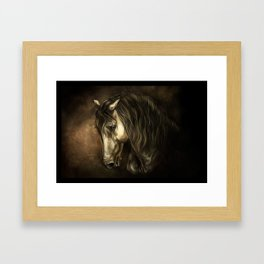 French horse of Chantilly Framed Art Print