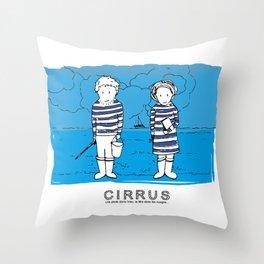 Cirrus/Les pieds dans l'eau, la tete dans les nuages. Throw Pillow