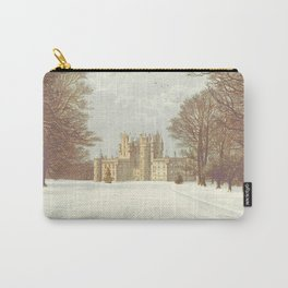 A beautiful snowy castle 1850's England Carry-All Pouch