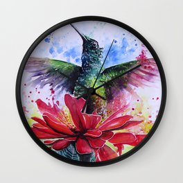 Rising from a Flower Wall Clock