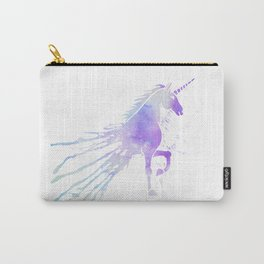 Magical unicorn pink purple watercolor splatters Carry-All Pouch