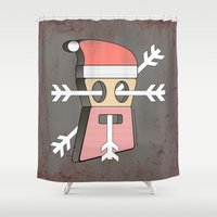 merry christmas Shower Curtains featuring Merry christmas by AmDuf