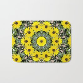 Sunflowers and Bees Bath Mat