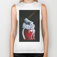 haunted mansion Biker Tanks featuring Disneyland Haunted Mansion inspired Haunted Bride Candied Apple  by ArtisticAtrocities