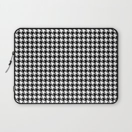 PreppyPatterns™ - Cosmopolitan Houndstooth - black and white Laptop Sleeve