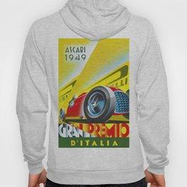 1949 Italian Grand Prix Ascari Motor Racing Vintage Poster Hoody