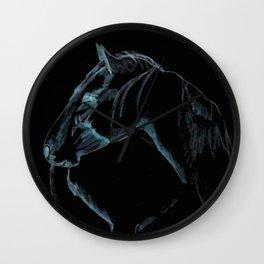 """ Black Stallion "" Wall Clock"