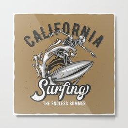 California Surfing Metal Print