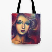 under the sea Tote Bags featuring Under the Sea by Alice X. Zhang