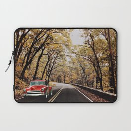 Vintage Car on Skyline Drive Laptop Sleeve