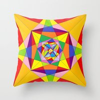 fibonacci Throw Pillows featuring FIBONACCI  by PlanetLOUDville