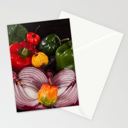 Onion and Peppers Stationery Cards