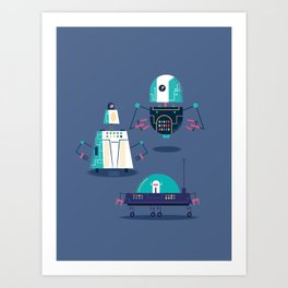 :::Mini Robot-Nanoi::: Art Print