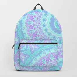 Cyan, Turquoise, and Purple Kaleidoscope Backpack