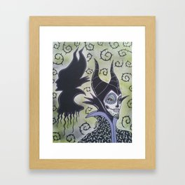 Maleficent Sugar Skull Framed Art Print