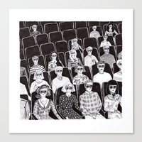 movies Canvas Prints featuring The movies by Margarida Esteves
