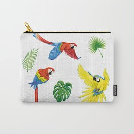 Tropical Feathers Carry-All Pouch