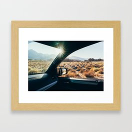 Roadtrip Sunset Framed Art Print