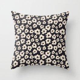 Camofloral Dark Throw Pillow