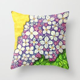 Lilacs for Sally Throw Pillow
