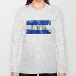 El Salvador Flag Long Sleeve T-shirt